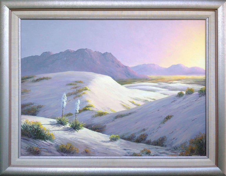 Lucien C Vannerson White Sands Painting For Sale At