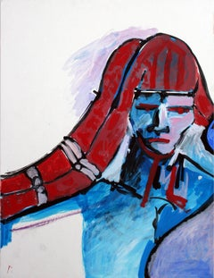 Red, White & Blue Figurative Abstract