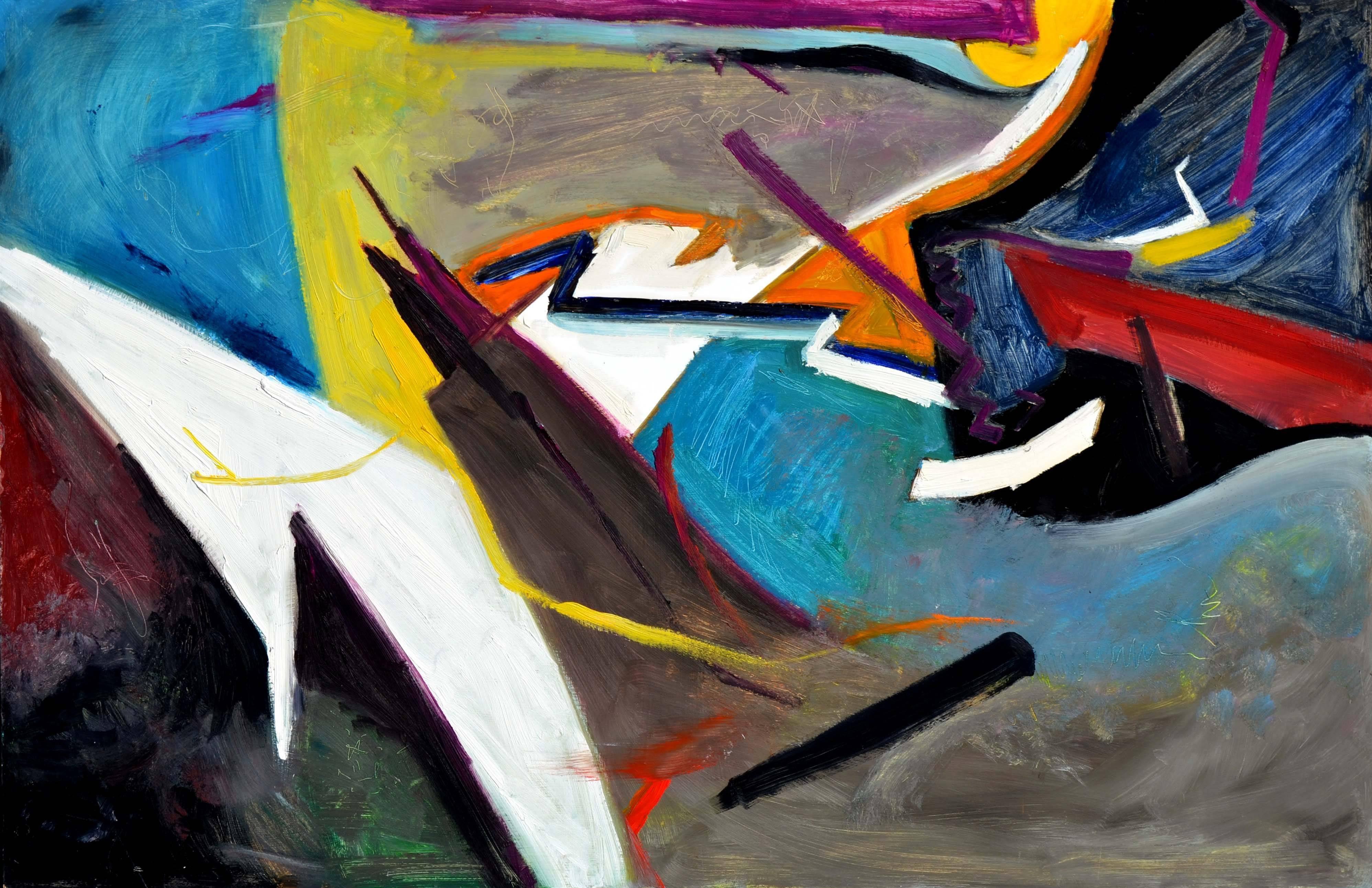 """Lightnings Infinite / Art of Living"" - Horizontal Abstract #2"