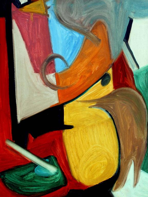 Vertical Abstract #5 - Painting by Leslie Luverne Anderson