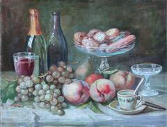 Still Life with Pastries and Fruit