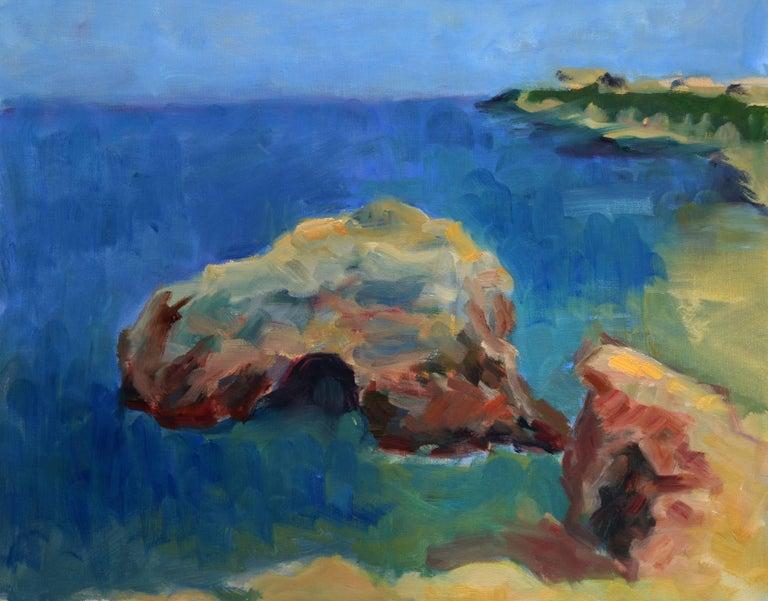 Jack Lynn Landscape Painting - California Coastal Shore Seascape
