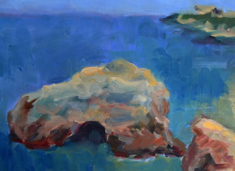 California Coastal Shore Seascape - Painting by Jack Lynn