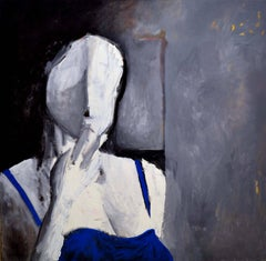 Woman in Blue Abstract Expressionist Figurative
