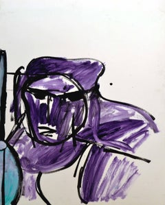 Purple Abstracted Portrait