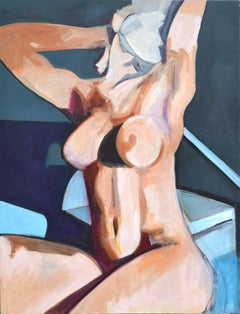 Abstract Expressionist Female Nude