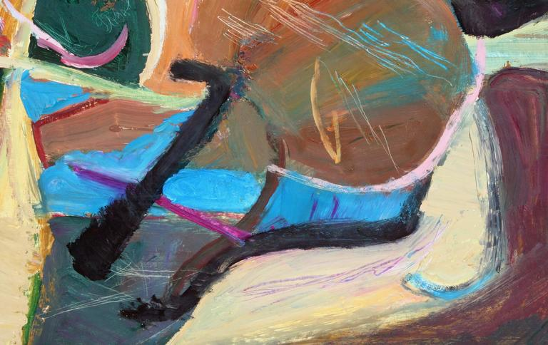 Horizontal Abstract #9  - Abstract Expressionist Painting by Leslie Luverne Anderson