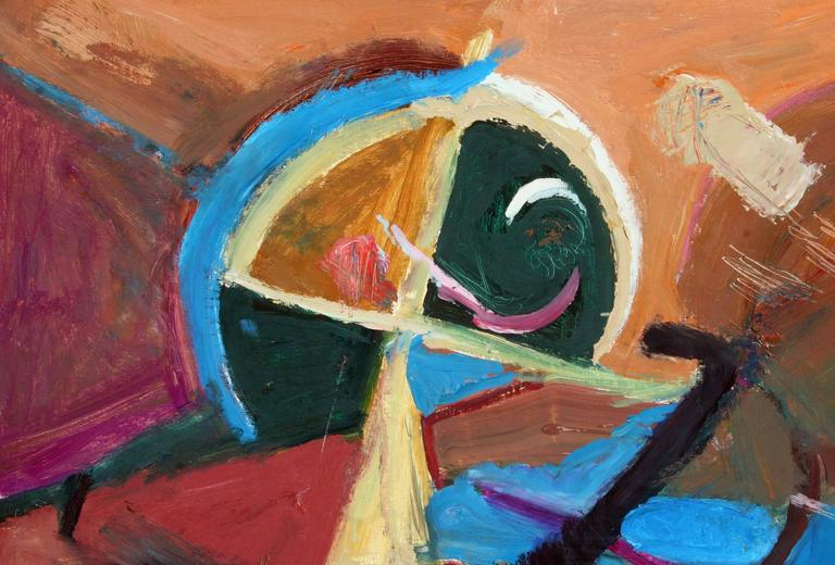 Horizontal Abstract #9  - Painting by Leslie Luverne Anderson