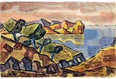 Coast of Majorca, 1953 by Hans Gassebner