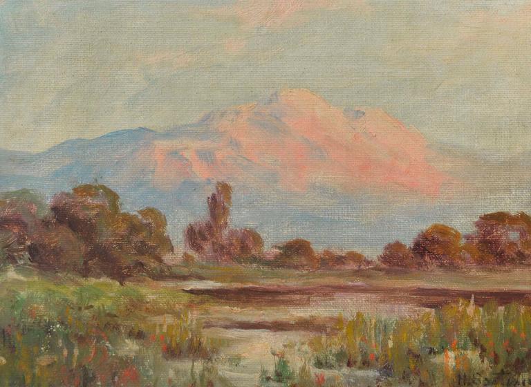 Mount Tamalpais California  - Painting by Herbert Sartelle