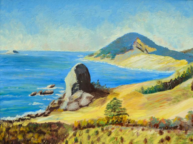 Big Sur, California by Ellen Pearl Johnson - American Impressionist Painting by Pearl Johnson