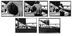 Series of Five--Arrival or Departure Photographs (After Hitchcock)