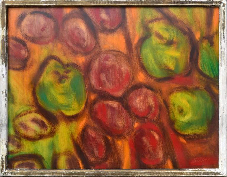 Apples and Plums - Painting by James McCray