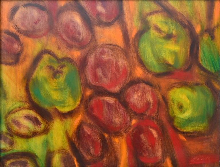 James McCray Abstract Painting - Apples and Plums