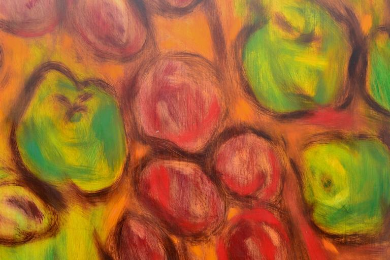 Apples and Plums - Abstract Expressionist Painting by James McCray