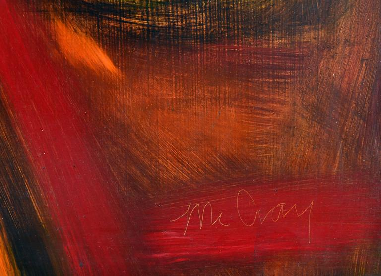 Apples and Plums - Brown Abstract Painting by James McCray