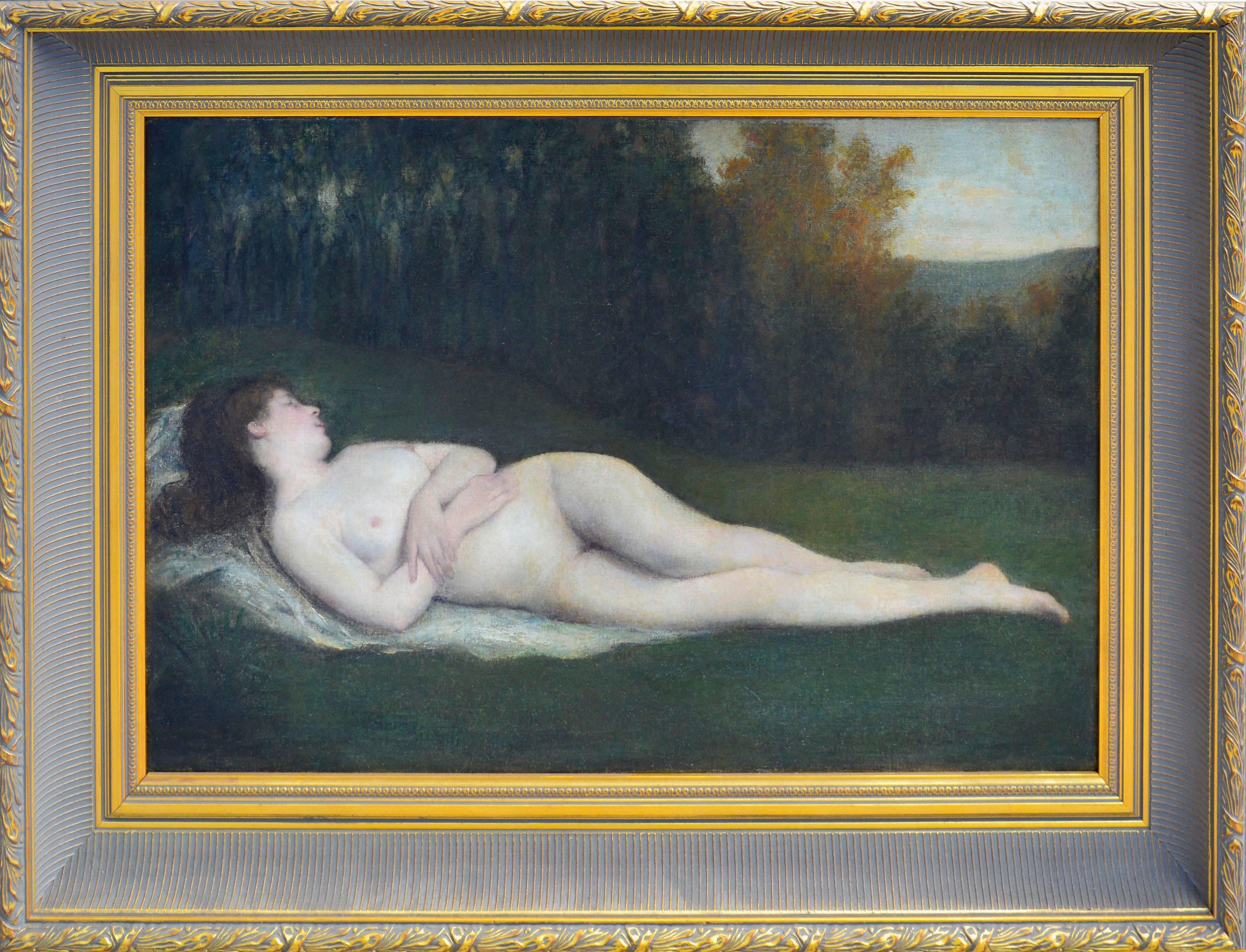 19th Century Reclining Nude California School