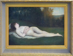 19th Century Reclining Nude California School