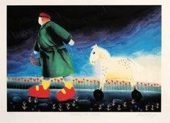 Walking the Horse by Mackenzie Thorpe