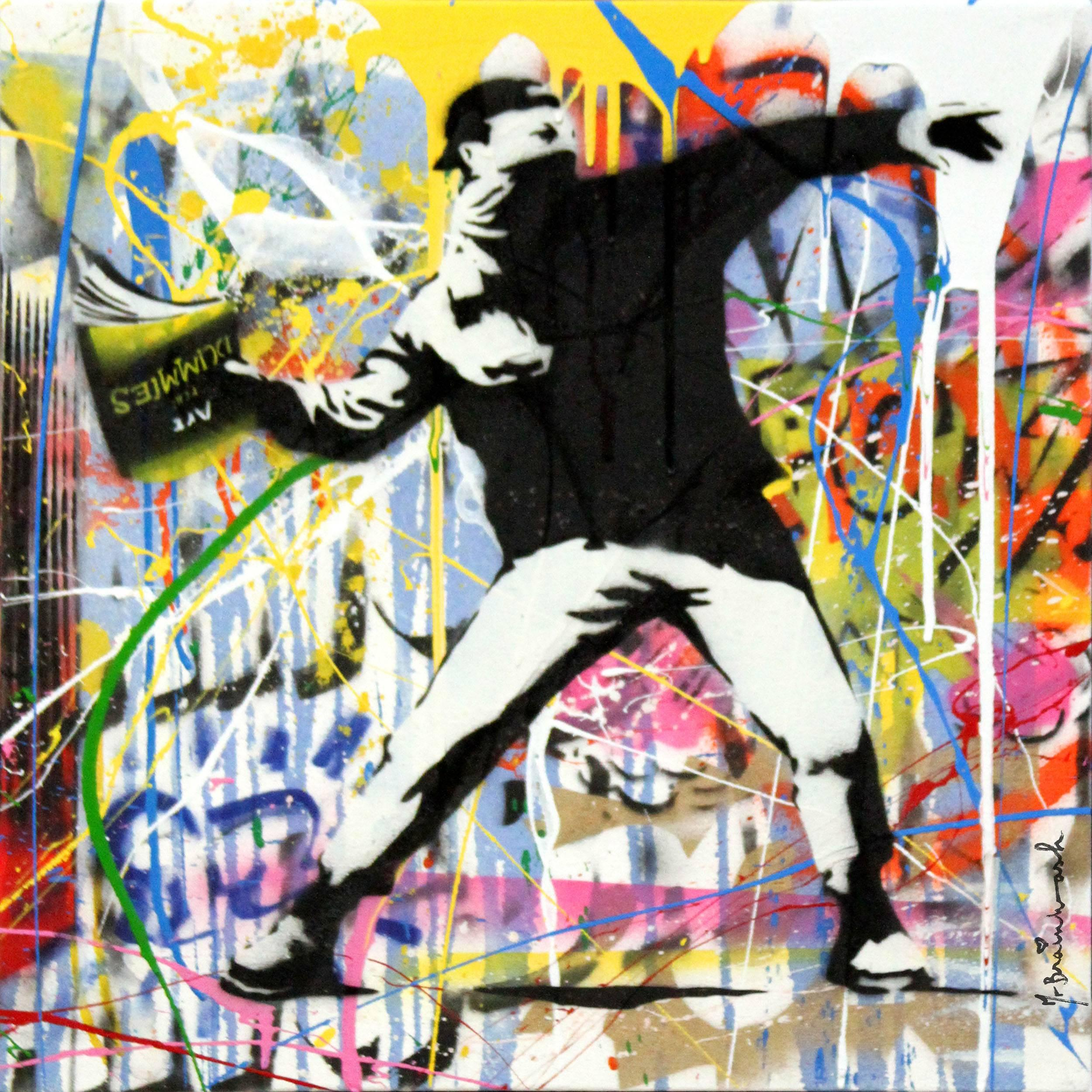 Banksy Thrower (18) by Mr. Brainwash