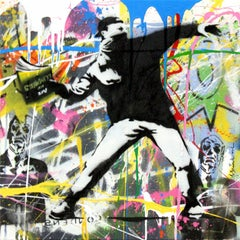 Banksy Thrower (19) by Mr. Brainwash