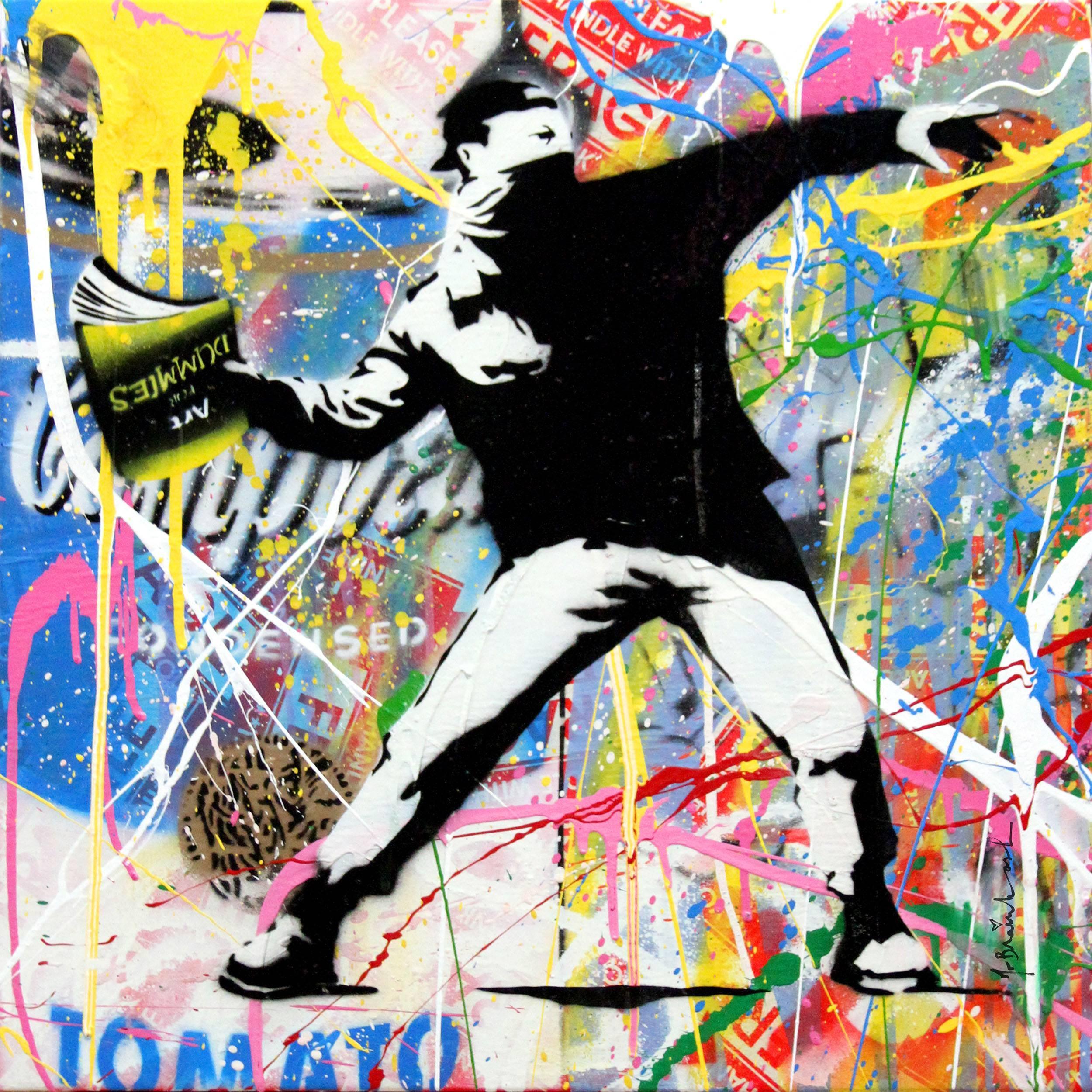 Banksy Thrower (9) by Mr. Brainwash