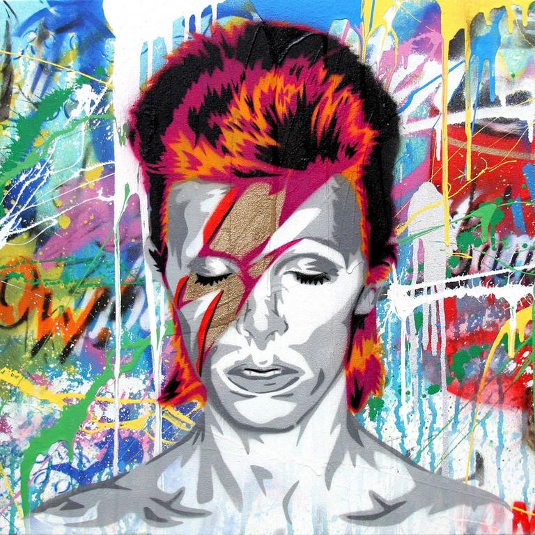 David Bowie - Painting by Mr. Brainwash