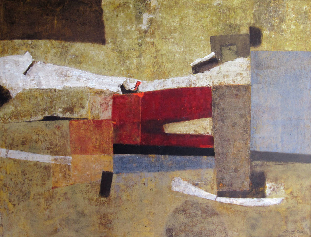 """""""Abduction of the Emperor,"""" 1970s Modern Abstract Painting"""