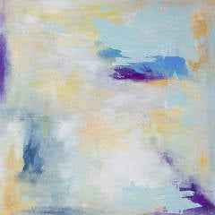 'Dancing in Light', Contemporary Abstract Minimalist Mixed-Media Painting