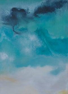 'Aruba', Contemporary Abstract Mixed-Media Painting