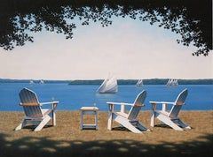 'Afternoon Seating', Contemporary Realist Marine Oil Painting