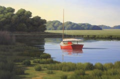 'Taking a Break', Cape Cod Modern Impressionist Marine Oil Painting