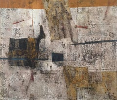 """Magdalena"", 1969's Mid-Century Modern Abstract Oil Painting"