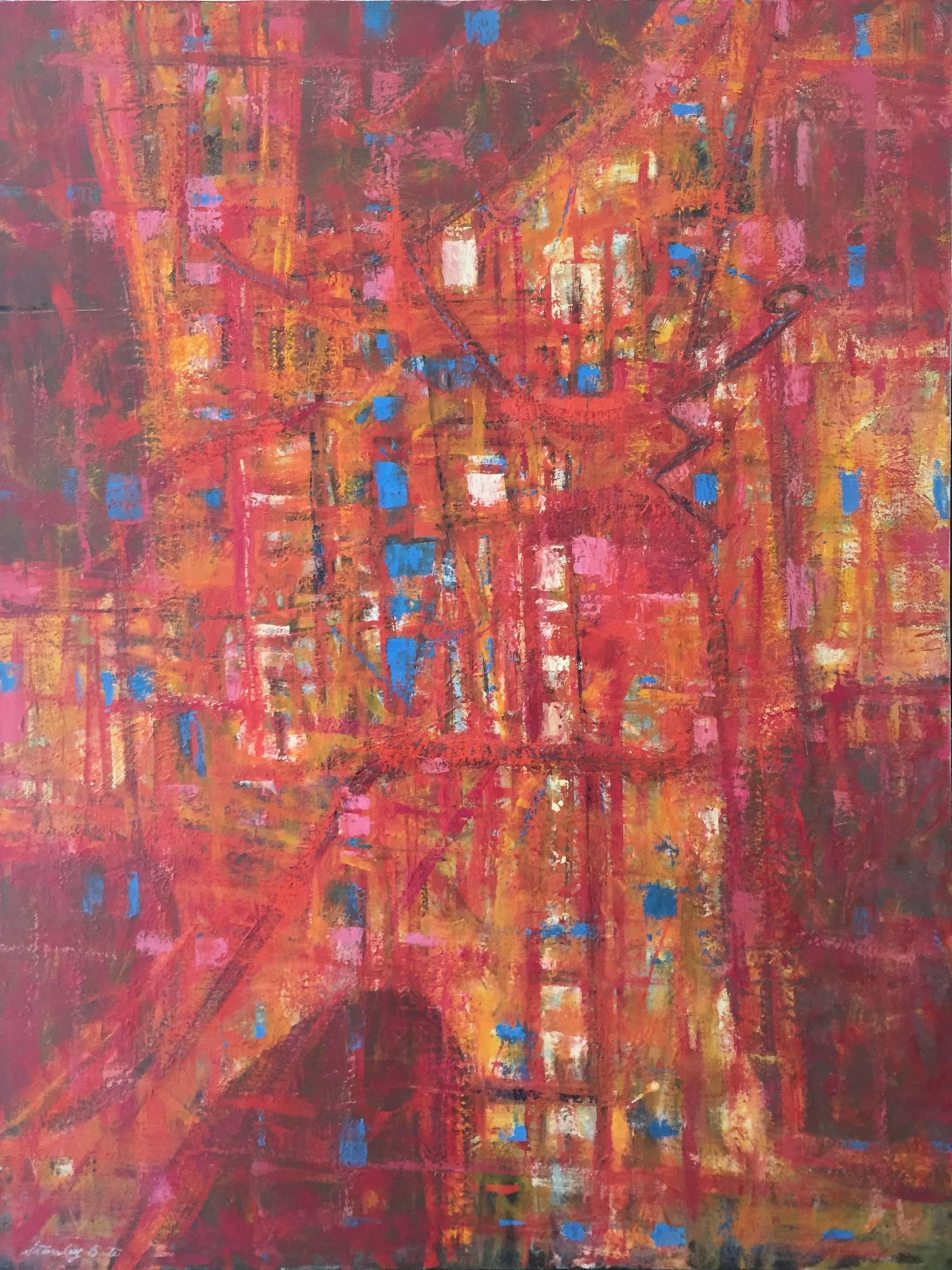 """""""Roman Incident,"""" 1960s Modern Abstract Painting"""