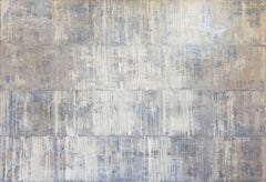 'Tundra', minimalist contemporary white abstract oil painting