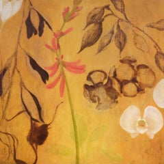 'Life Cycles', Contemporary Floral Mixed-Media Painting