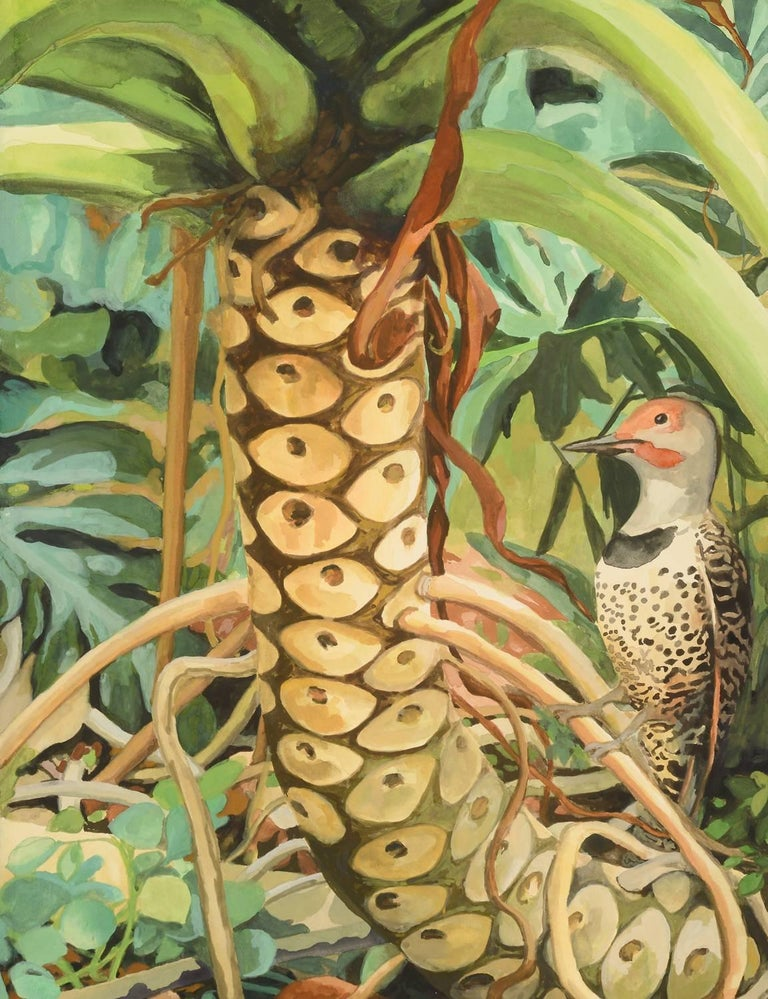 b87b847fa Laurie Flaherty - 'Reflection', Contemporary Flora and Fauna Gouache ...