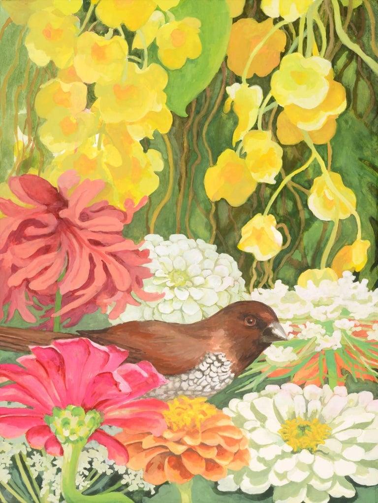 55aebd8e0 Laurie Flaherty - 'Nestle', Contemporary Flora and Fauna Gouache ...