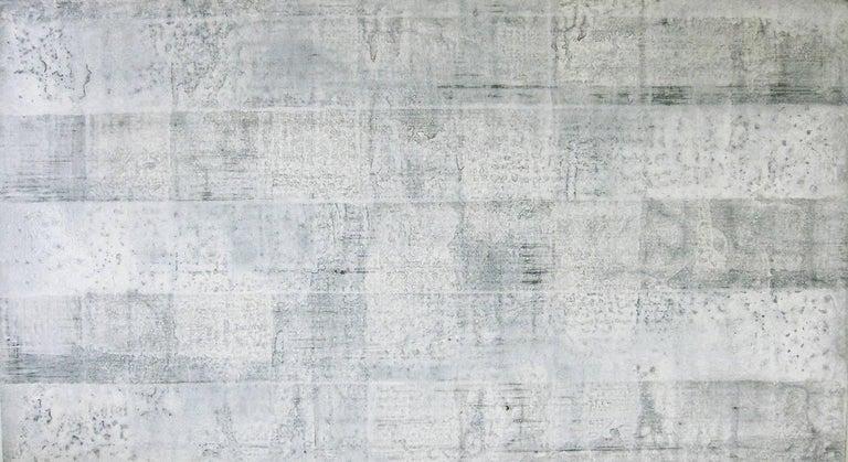 Kiyoshi Otsuka Abstract Painting - 'Hatake', Black and White Abstract minimalist Japanese painting