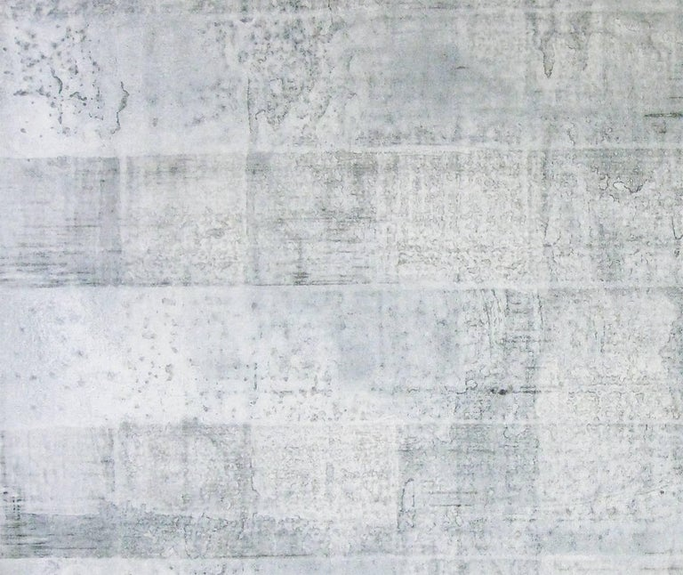 'Hatake', Black and White Abstract minimalist Japanese painting - Painting by Kiyoshi Otsuka