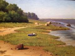 'June Sun', Cape Cod Modern Impressionist Marine Oil Painting