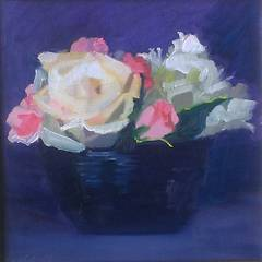 Blue Bowl with Roses