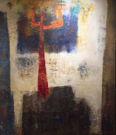 """""""Helvetic Landscape,"""" 1960s Modern Abstract Painting"""