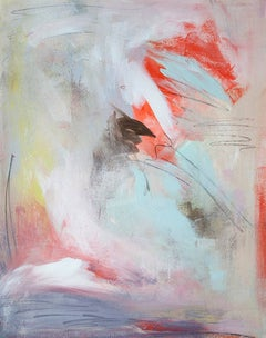 'Tangled in Delight', Contemporary Abstract Minimalist Mixed-Media Painting