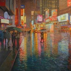 Rain, Times Square