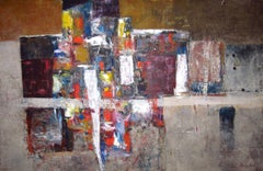 """""""Exodus,"""" 1960s Modern Abstract Painting"""