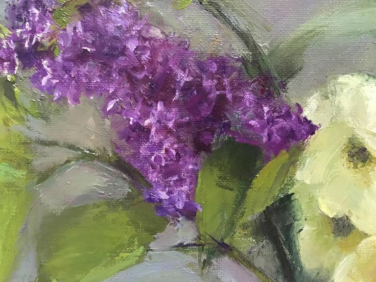 May Blossoms - American Impressionist Painting by Susan Jositas