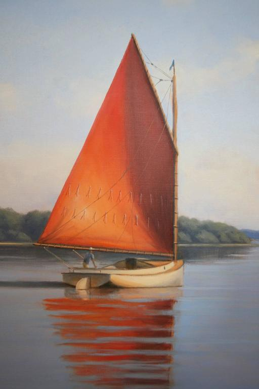 Summer Breeze - Realist Painting by Ronald Tinney