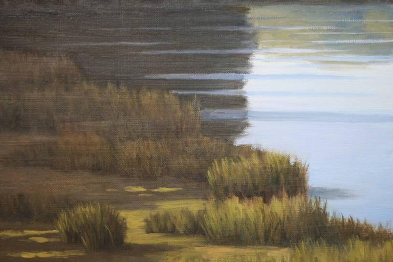 'Taking a Break', Cape Cod Modern Impressionist Marine Oil Painting For Sale 1