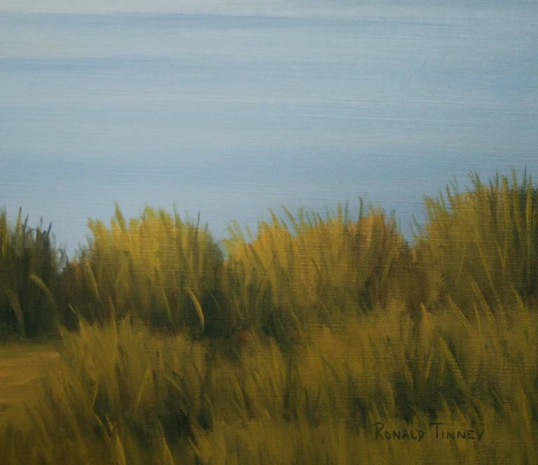 'Taking a Break', Cape Cod Modern Impressionist Marine Oil Painting For Sale 2